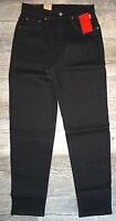 New LEVI'S Women's 550 Stretch Relaxed Fit Tapered Leg Jeans Black  Reg & Plus