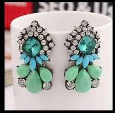 Anthropologie Cluster Costume Earrings