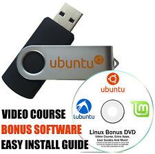 Ubuntu Linux 19.04 Disco Dingo Linux Live Install 16 GB USB With BONUS DVD Disc