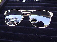 Vintage bausch and lomb gold ray-bans size 52 style 19 green lens with case