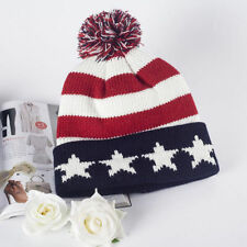 USA country nation US Flag American Star Cool Warm knitted winter hat Beanie