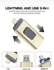 32GB/128GB/256GB Flash Drive Dual Storage USB Memory Stick for iOS, Android & PC