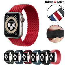 Nylon Braided Solo Loop iWatch Band Strap for Apple Watch Series 6 5 4 3 42/44mm