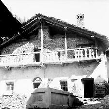 SAINT OYEN c. 1948 - Chalet Village Italie - Négatif 6 x 6 - ITAL 363