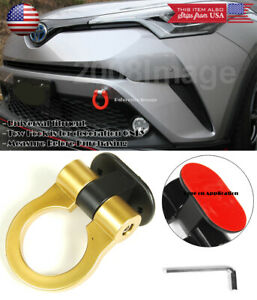 Gold Plastic Tape on Adjustable Decoration Tow Hook Ring For Honda Acura