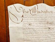 More details for 1682 norfolk 17th century charles 2nd vellum deed document indenture