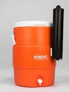 Igloo 10 Gallon Seat Top Water Cooler Beverage Jug w/ Spigot & Cup Dispenser