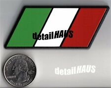 ITALIAN FLAG BADGE EMBLEM ITALY DUCATI FERRARI FIAT ITA MILAN ROME LAMBORGHINI