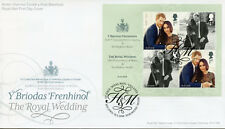 GB 2018 FDC Prince Harry & Meghan Royal Wedding 4v M/S Cover Royalty Stamps
