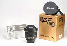 Nikon AF ED 14mm F2.8 D AF Ultra Wide Prime Lens Boxed + Rear Cap & Front  Cover
