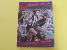 1973 Collingwood v Richmond Preliminary Final Football Record