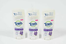 3 Toms of Maine 2.25z LONG LASTING Natural Deodorant WILD LAVENDER stick 07/2021