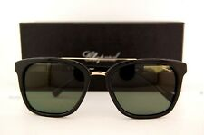 New Chopard Sunglasses SCH A04 300Z  Black Gold/Green Polarized For Men