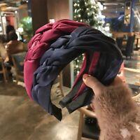 Womens Headband Twist Hairband Bow Knot Cross Tie Silk Headwrap Hair Bands