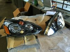 Used 02-04 JDM Honda Integra Type R Headlights. Black Housing Acura Rsx. Damaged