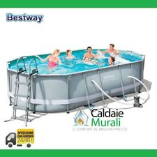 PISCINA BESTWAY POWER STEEL FRAME CON TELAIO PORTANTE CM 488X305X107H MOD. 56448