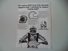 advertising Pubblicità 1978 CASCO HELMETS AGV CROSS X-100