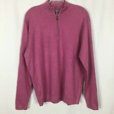 NEW Peter Millar Crown Sport Men's 1/4 Zip Golf Sweater - Size L - Pink