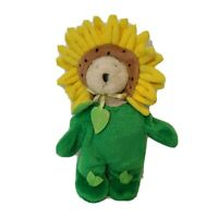 Ganz Wee Bear LI'L BLOSSOM Plush Miniature Teddy Bear SUNFLOWER