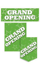 Grand Opening Sign Kit Green Single Sided Glossy Paper- 11 Pieces