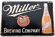 MILLER'S METAL TIN SIGNS pub bar garage retro kitchen plaque funny