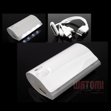 5200MAH EXTERNAL BACKUP BATTERY CHARGER MICRO USB WHITE IPHONE 5 4S 4 IPOD IPAD