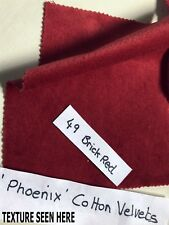 MADE TO ORDER BRICK RED COTTON VELVET, LINED CURTAINS. MTM WIDE LONG BAY THERMAL