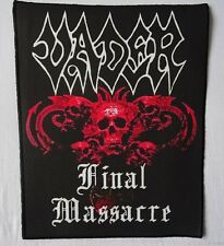 VADER FINAL MASSACRE Backpatch Giant Back Patch Rückenaufnäher Aufnäher Limited