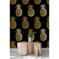 Luxurious Pineapple Non-Woven wallpaper Watercolor wall mural floral Home  fruit