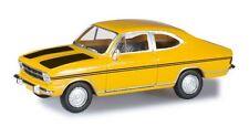 Opel Kadett B coupé 1967 jaune à bandes noires - Herpa - Echelle 1/87 (Ho)