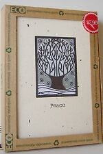 16 CT PK HOLIDAY CARDS Green ENVELOPES ECO Recycled 1 Design PEACE Tree