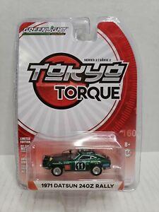 Rare Greenlight Tokyo Torque 1971 Datsun 240Z Rally Green Machine Chase #4064