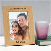 PERSONALISED Couples Photo Frame Wedding Anniversary Birthday Gifts for Her Him