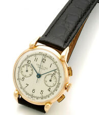Rich Pink Gold Breitling Square Chronograph Watch with Register CA1945