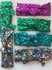 Girl Kids Child Shine Mermaid Scale Rock Star Cross Hair head headband bandana