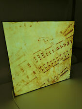 LED Bild Wandbild leuchtend Leuchtrahmen Leuchtdisplay Musik Musiknoten  60 x 60