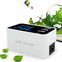 3 Port Quick Charge Type C Charger Led Display Wall ChargerUSB Adapter Station