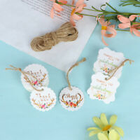50pcs/pack DIY Gift Paper Tags Thank you Label Wedding Party Paper Hang Tags GVU