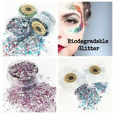 Biodegradable Cosmetic Bio Glitter chunky mix Festival Party make up face eco