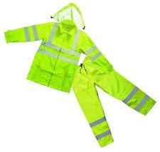 Forester Class 3 Hi Vis Green Rain Suit (Medium)