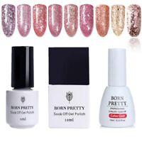 5/10ml Born Pretty Rose Gold Nail Art UV Gel Polish Glitter Soak Off Gel Varnish