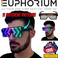 Euphorium Sonic LED Glasses Customisable Halloween Rave Festival AUS Multicolour