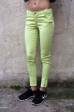 DENNY ROSE GIRLS Lime Green Stretch Denim Jeans Slim Fit Sz 16 Yrs W28 Uk10 LOOK
