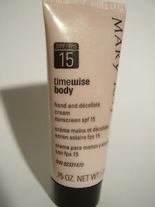 Mary Kay timewise Hand Cream Sunscreen SPF 15 / 0.75 ounce travel size