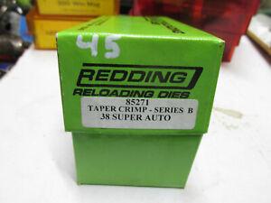 [BXC45] Redding taper crimp series B 38 super auto die new in box