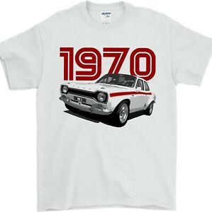Ford Escort T Shirt Mk1 1970 Classic Car Collector Gift - Premium Quality Cotton