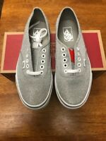 679005ba714a VANS Shimmer Glitter Silver Authentic Shimmery Sparkle Shoes