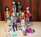 COLORFUL LOT OF 9 MONSTER HIGH & EVER AFTER BARBIE DOLLS + ACCESSORIES