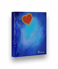 """Hand Painted GLOSSY Painting GOOD HEART - Stretched Wooden Frame Canvas 7""""X8"""""""