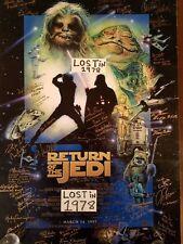 STAR WARS Cast Signed Autograph Poster Return The Jedi ROTJ SE 1997 Last Vintage